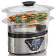 Hamilton Beach® Two-Tier Digital Food Steamer and Rice Cooker