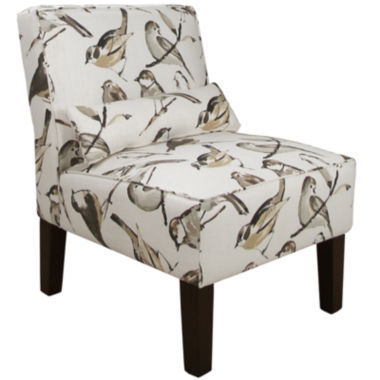 jcpenney.com | Olivia Armless Chair - Birdwatcher Print