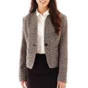 Liz Claiborne® 1-Button Tweed Jacket