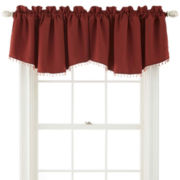 Royal Velvet® Kathryn Rod-Pocket Beaded Ascot Valance