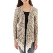 Arizona Long-Sleeve Crocheted-Hem Cardigan