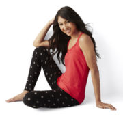 Flirtitude® Tank Top and Microfleece Leggings Pajama Set