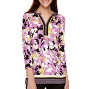 Liz Claiborne® 3/4-Sleeve Tunic - Tall