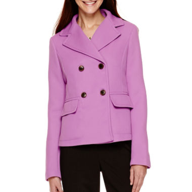 jcpenney.com | Liz Claiborne® Double-Breasted Cropped Jacket - Tall
