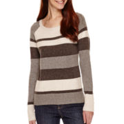 St. John's Bay® Long-Sleeve Mossy Ballet-Neck Sweater