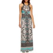 Liz Claiborne® Sleeveless Printed Maxi Dress