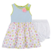 Marmellata Sleeveless Blue Striped Dress - Baby Girls 3m-24m