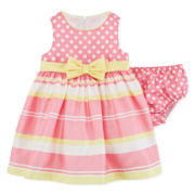 Bonnie Jean® Striped Dress - Baby Girls 3m-24m