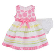 Bonnie Jean® Stripped Dress - Baby Girls 3m-24m