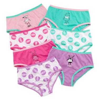 Okie Dokie® 7-pk. Days-of-the-Week Panties - Toddler Girls ...