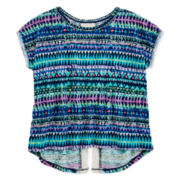 Arizona Crochet Back Print Top - Girls 7-16 and Plus