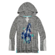 Arizona Long-Sleeve Lace-Trim Hoodie - Girls 7-16