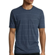 St. John's Bay® Short-Sleeve Striped Indigo Tee