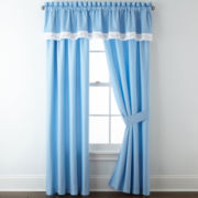 Blue Floral 2-Pack Curtain Panels
