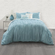 Seventeen® Aqua Ruched Comforter Set & Accessories