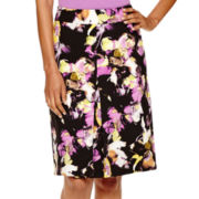 Liz Claiborne® Floral Inverted Pleated Skirt