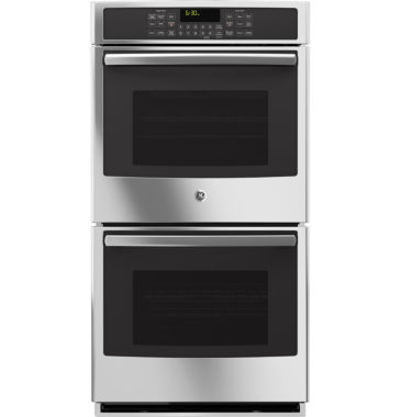 "jcpenney.com | GE Profile™  27"" Double Electric Wall Oven Self Cleaning With Steam Plus Convection"
