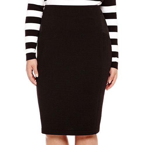 BELLE + SKY™ Bodycon Pencil Skirt - Plus
