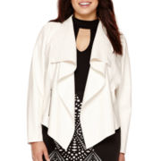Bisou Bisou® Long Sleeve Draped Jacket - Plus