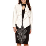 Bisou Bisou® Draped Jacket, Bubble Top or Scuba Skirt - Plus