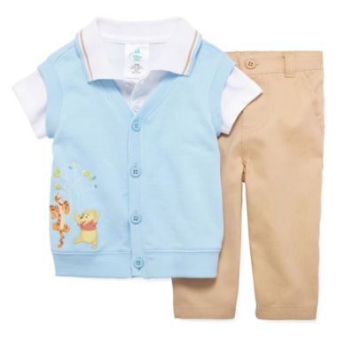 jcpenney.com | Disney Baby Collection 3-pc. Pooh Dress Set - Baby Boys newborn-24m