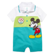 Disney Collection Short-Sleeve Mickey Romper - Baby Boys newborn-24m