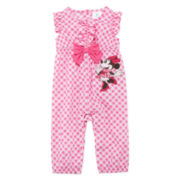 Disney Baby Collection Minnie Mouse Woven Romper - Baby Girls newborn-24m