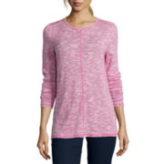 St. John's Bay® Long-Sleeve Textured Tunic Top