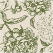 Peony Set of 4 Floral Napkins