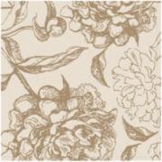 Peony Set of 4 Floral Napkins
