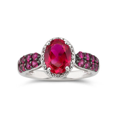 jcpenney.com | Lab-Created Oval Ruby & Diamond-Accent Ring