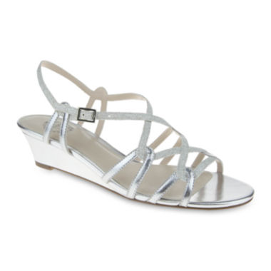 jcpenney.com | I. Miller Fair Metallic Strappy Wedge Sandals