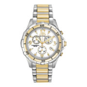 Citizen® Eco-Drive™ Womens Two-Tone Chronograph Watch FB1354-57A