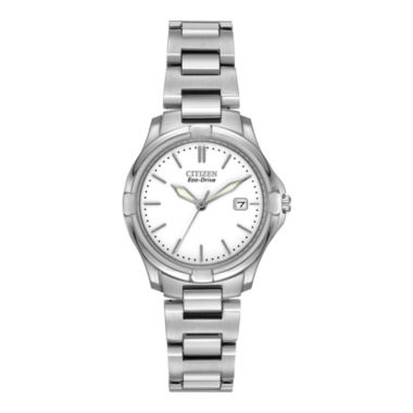 jcpenney.com | Citizen® Eco-Drive® Womens Silver-Tone Stainless Steel Bracelet Watch EW1960-59A