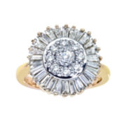 CLOSEOUT! 1½ CT. T.W. Diamond Sunburst Ring