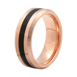 BEST VALUE! Mens 8mm Comfort Fit Ion-Plated Tungsten Wedding Band