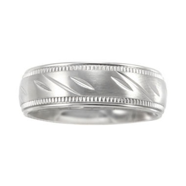 jcpenney.com |  Mens 7mm Comfort Fit Stainless Steel Wedding Band