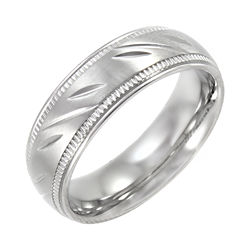 BEST VALUE! Mens 7mm Comfort Fit Stainless Steel Wedding Band