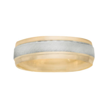 jcpenney.com |  Men's 6mm Two-Tone Gold Wedding Band
