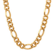 Mens Yellow Stainless Steel Figaro Chain