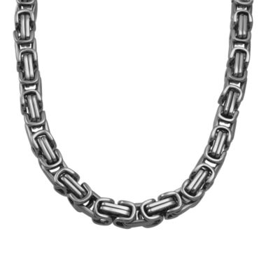 jcpenney.com | Mens Stainless Steel Square Byzantine Chain