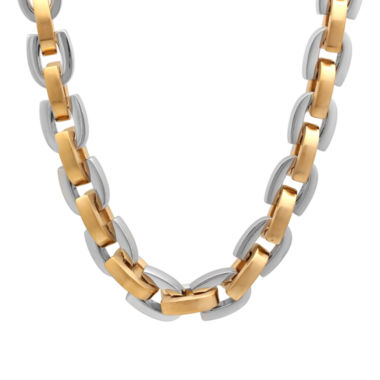 jcpenney.com | Mens Two-Tone Stainless Steel D-Link Chain