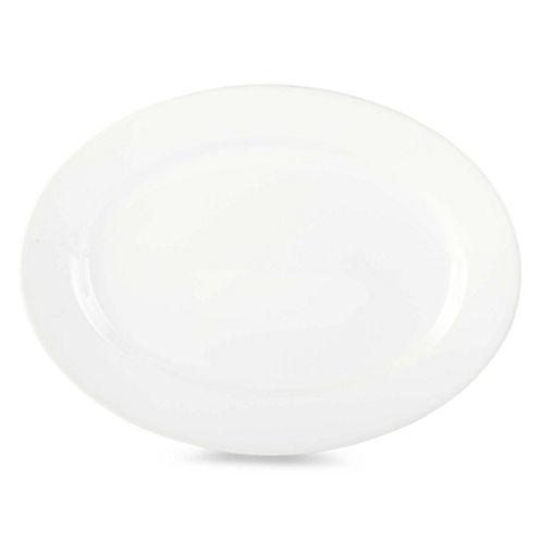 """JCPenney Home™ Porcelain Whiteware 16"""" Oval Platter"""