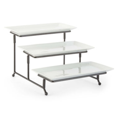 jcpenney.com | JCPenney Home™ Whiteware 3-Tiered Server on Metal Rack