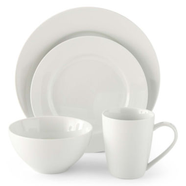 jcpenney.com | JCPenney Home™ Porcelain Whiteware 32-pc. Round Dinnerware Set - Service for 8
