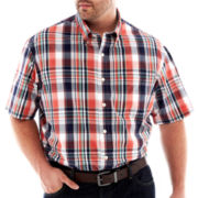IZOD® Essential Plaid Shirt–Big & Tall