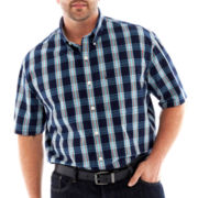IZOD® Essential Plaid Shirt–Big & Tall