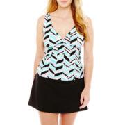 St. John's Bay® Tankini Swim Top or Control Skirt Bottoms - Plus