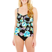 St. John's Bay® Tankini Swim Top or Brief Bottoms - Plus