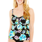 St. John's Bay® Floral Print Tankini Swim Top - Plus